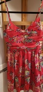 Roxy Red Floral Dress